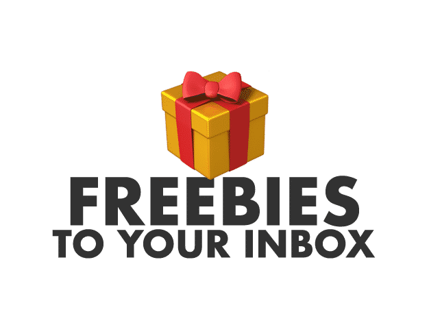 Freebies to your inbox